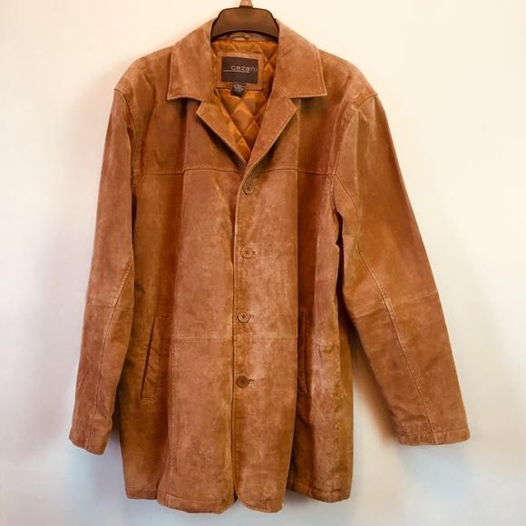 Cezani Jackets Coats Suede Brown Leather Jacket Mens Xl Coat